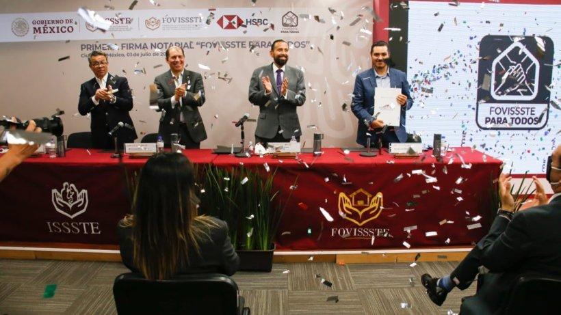 """Formalizan inicio de """"FOVISSSTE para Todos"""" en cofinanciamiento con la banca privada"""