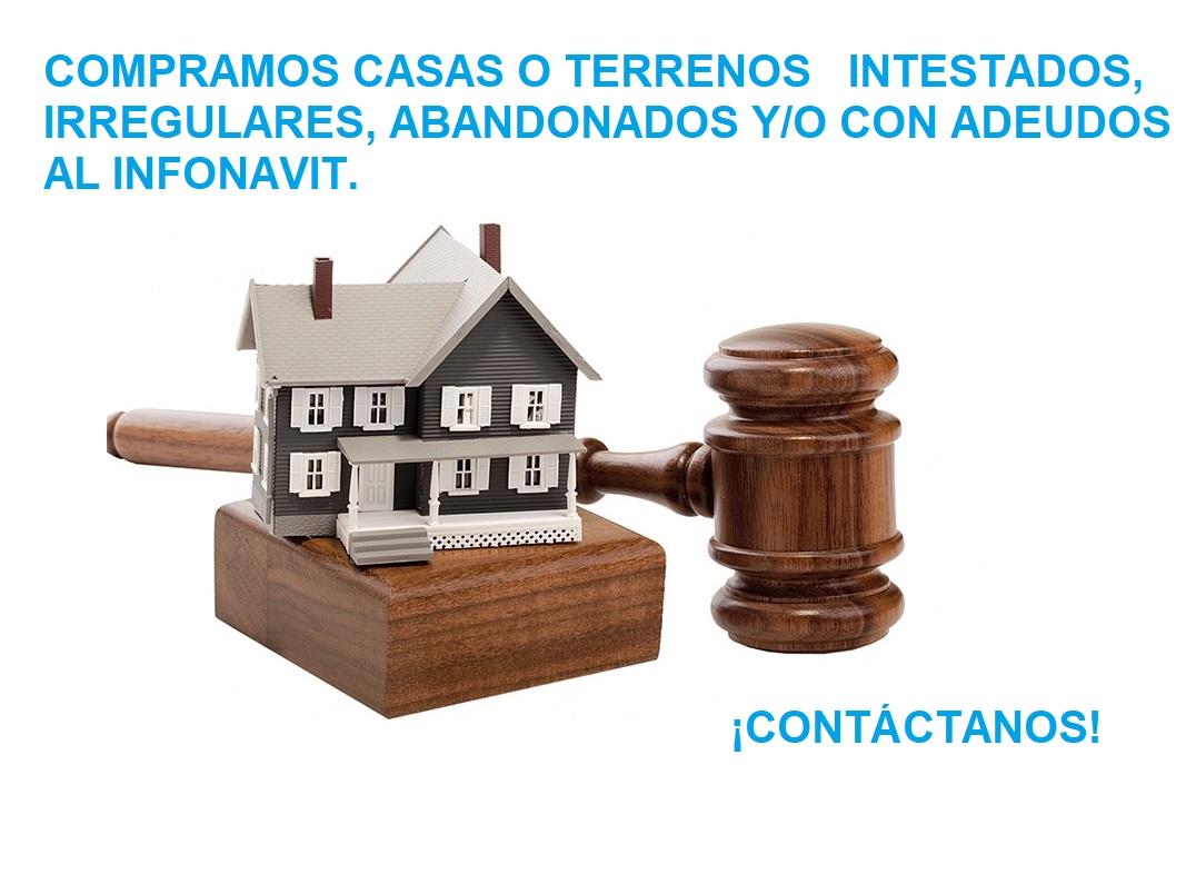 Compra de casas intestadas, irregulares, abandonadas o con adeudos al INFONAVIT